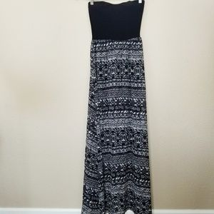 Wet Seal Abstract Tribal Print Strapless Maxi